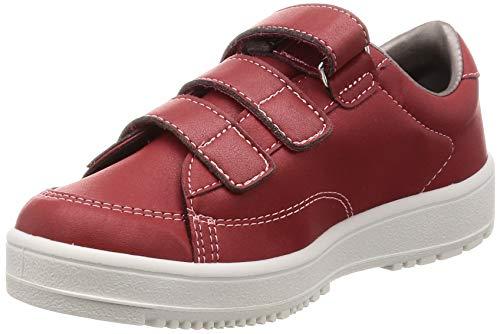 [ムーンスター] メンズ/レディース リハビリ 介護靴 片足販売 Vステップ07 (右足のみ) レッド 24 cm 3E