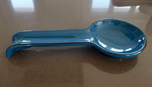 poggiamestolo appoggia Cucchiaio in Ceramica 100% Artigianale Made in Italy Accessori da Cucina (Blu)