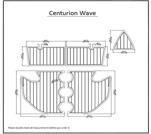 Review Of ZY Centurion Wave Swim Platform Pad 6mm Boat EVA Teak Decking 1/4 6mm (Dark Grey with Bla...