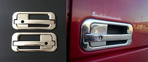 4 pièces 3d Chrome Miroir en acier inoxydable Poignée de porte couvertures pour Daf XF 95 Xf105 gauche et à droite