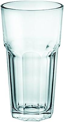 Borgonovo London-11085720 Juego de 6 Vasos de Vidrio, 480 ml