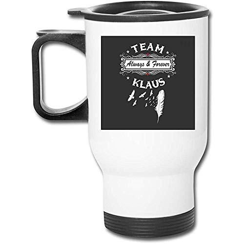Mei-shop Vampire Diaries Originale Team KlausStainless Becher doppelwandige Vakuumkaffeetasse mit spritzwassergeschütztem Deckel