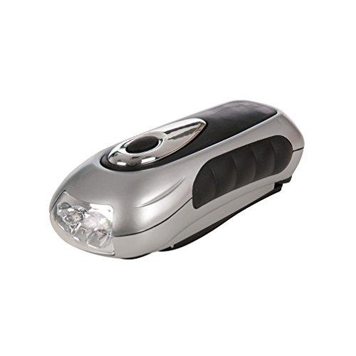Silverline 839905 - Linterna LED con manivela (3 LED)