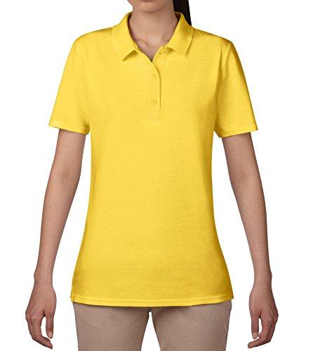 anvil Damen Fashion Basic Polo Piqué / 6280L, Einfarbig, Gr. 48 (Herstellergröße: XXL), Gelb (LZT-Lemon Zest 331)