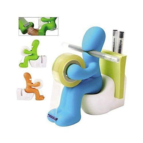 The Butt Station - Desk Accessory: Tape Dispenser Pen Memo Holder Clip Storage (Random Color)