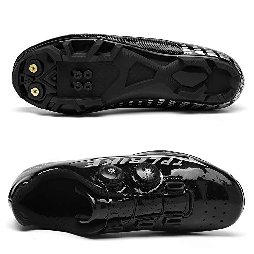 CHANGAN Elite SPD MTB Cycling Shoes for Men Women Ideal for Mountain, Cyclo Cross Country XC Bikes in Included Black-39
