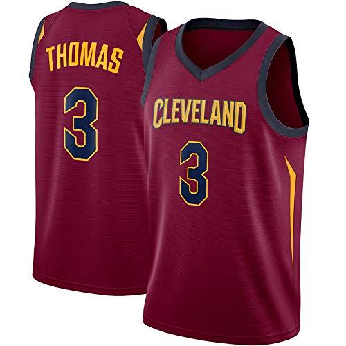 WSUN Maglia da Basket da Uomo NBA Cavaliers 3# Isaiah Thomas Jersey NBA Unisex Top Senza Maniche Magliette da Competizione per Sport all'Aria Aperta Gilet,XL