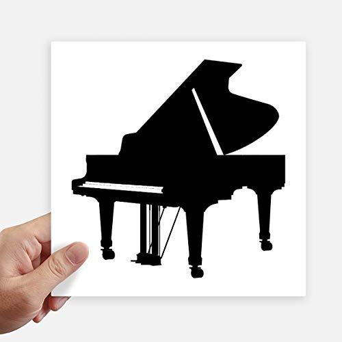 DIYthinker Piano Klassieke Muziek Instrument Patroon Vierkante Stickers 20Cm Wandkoffer Laptop Motobike Decal 4 Stks