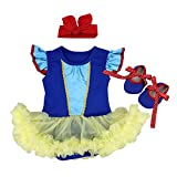 OBEEII Ropa de Mamelucos para Halloween Vestido Blancanieve Tutu Princesa para...
