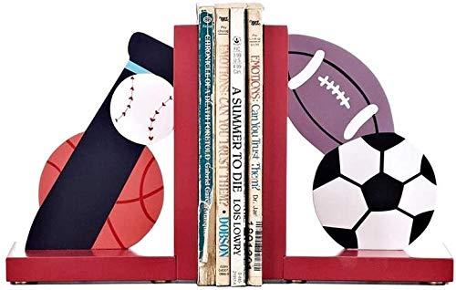 Kituir Nordic Creative Dibujos animados de madera Deportes Deportes Juegos Non-Skid Bookends Libro Libro Clip Estantería Decoración Decoración Boy Girl Room Bookcase Book Book Titular de Libro de alma