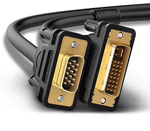 UGREEN Cable DVI a VGA, Cable DVI-I 24 + 5 Macho a...