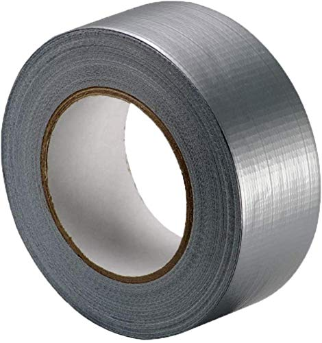 HSC Household Tape,Tape,Heavy Duty Duct Tape - Suitable for Most Surfaces - 50 Meters Long - 50mm Wide - Easy Tear - Mega Grip,Grey/Silver