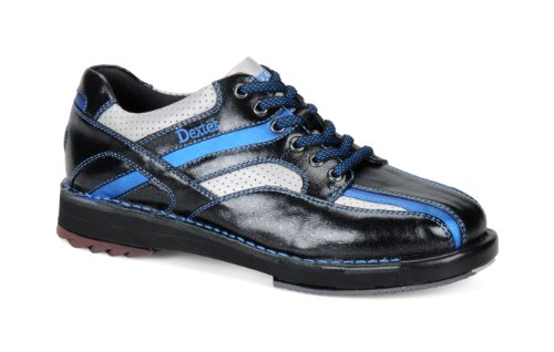 Dexter Dexter Herren SST 8SE Bowlingschuhe-Schwarz/Silber/Blau, US: 15, UK: 13