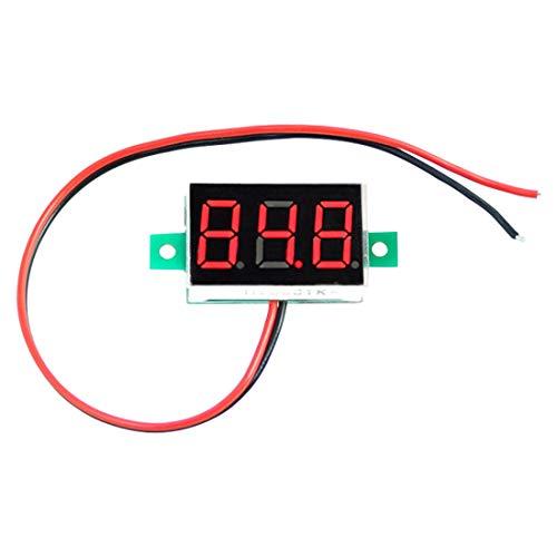 0.28インチ LED 2.5V-30V ミニ デジタル 電圧計 電圧テスター 電圧メーター