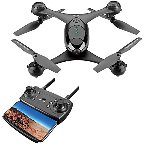Dron de cuatro ejes de inducción profesional HD 4K con cámara WiFi, video en vivo, cuadricóptero RC de flujo óptico con motores sin escobillas, modo Sígueme, retención de altitud gran angular de