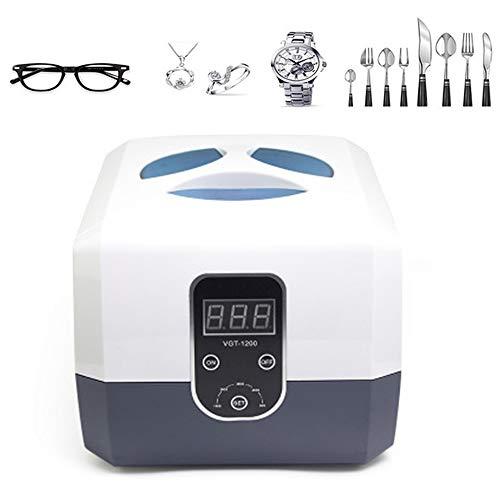 Ultrasone reiniger, professionele ultrasone sieradenreiniger met digitale timer, diamanten ringen, kettingen, brillen, 1300ML
