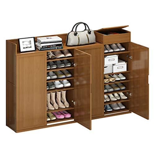 Zhicaikeji Gabinete de Zapatos Gabinete de Zapatos Puerta del hogar Almacenamiento a Prueba de Polvo Simple Zapato Rack de Gran Capacidad Multi-Capa Dormitorio Económico Rack para Zapatos