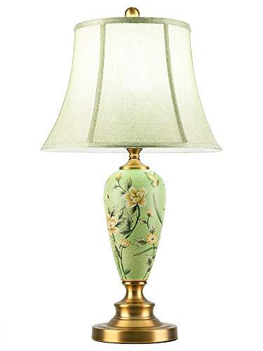 LLYU model tafellamp Amerikaanse decoratie van keramiek, moderne kunst en handbeschilderd van koper voor woonkamer Bedside voor bed