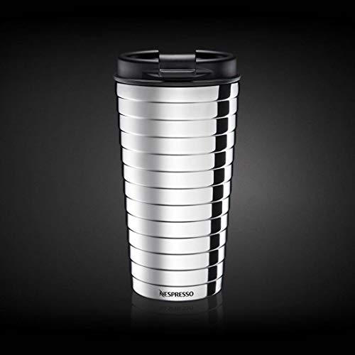 Nespresso Touch - Termo de viaje Travel Mug TOUCH (acero inoxidable, 345 ml), color plateado