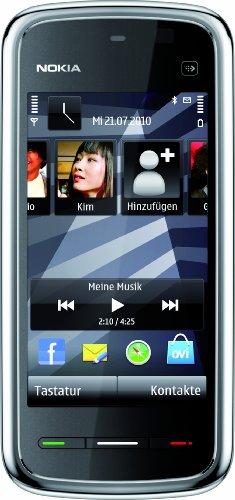 Nokia 5230 Navi Smartphone (8,1 cm (3,2 Zoll) Display, Touchscreen,  2 Megapixel Kamera) black-chrome