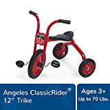 "Angeles ClassicRider 12"" Trike Bike, Red – Perfect for Beginner Riders Ages 3+ – Encourages Active Play – Supports Up to 70lbs. – Durable Design with Built-In Safety Features – Comfortable Ride"