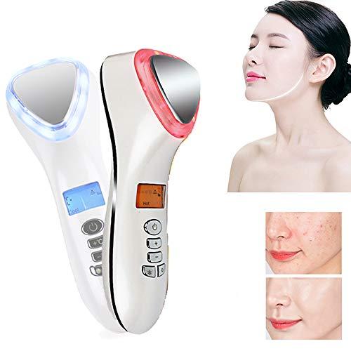 CYX Chaud/Froid Sonic Masseur Facial, 42℃ chauffée Anti-vieillissement Baguette galvanique, améliorer l'absorption réduit Les Poches Sombres Cercles Rides Fatigue, Soins de la Peau Facial,1