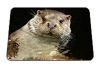 22cmx18cm マウスパッド (カワウソ水泳動物) パターンカスタムの マウスパッド