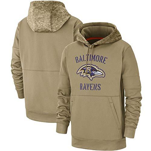 LAIDAN Amerikanisches Fußball Sweatshirt Für Baltimore Ravens Fan Jersey Lässiger Herren Hoodie Sport Und Wettbewerbe,XL