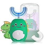 Dinosaur Kids Ultrasonic Electric Toothbrush with U-Shaped Toothbrush, Wireless...