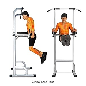 Ainfox Power Tower, Capacity 550 Lbs Pull Up Bar Tower Dip Stands Fitness Gym Office
