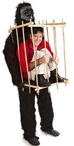 Costume Carnevale Halloween Animale Gorilla con Gabbia Umana – uomo donna