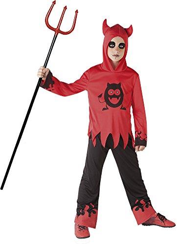 Rubies-S8371L Disfraz diablillo con ojos móviles, Color negro, rojo, L (8-10 años) (Rubie