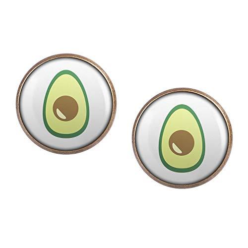 Mylery Ohrstecker Paar mit Motiv Avocado bronze 16mm
