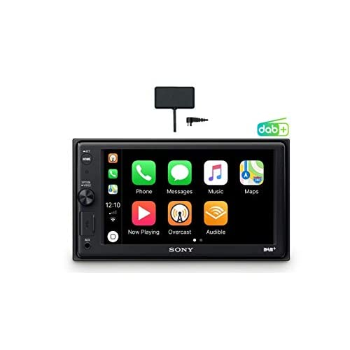 "Sony XAV-AX1005KIT - SintoMonitor 2DIN, Ricezione DAB/DAB+, Antenna DAB Inclusa, Display da 6.4"", Apple CarPlay, Controllo Vocale, Bluetooth, Microfono Esterno Incluso, 4x55W, USB iPhone/iPod"