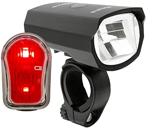 Fahrradlicht Set OMERIL Fahrrad Licht StVZO Zugelassen Fahrradbeleuchtung LED