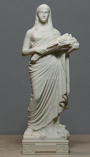 Alabaster Statue Demeter Ceres Ernte Fruchtbarkeit Göttin griechischen Skulptur 25΄ ΄