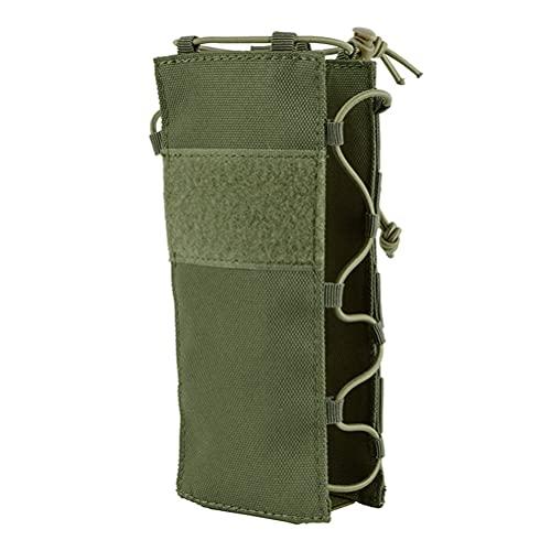 ABOOFAN Verde portátil al aire libre cintura deporte viaje botella de agua elástico bolsa titular hervidor portador