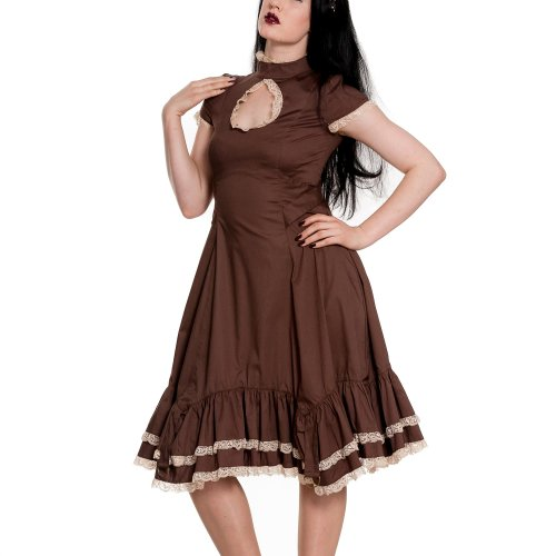 Spin Doctor Kleid VENA CAVA Dress Brown Braun L
