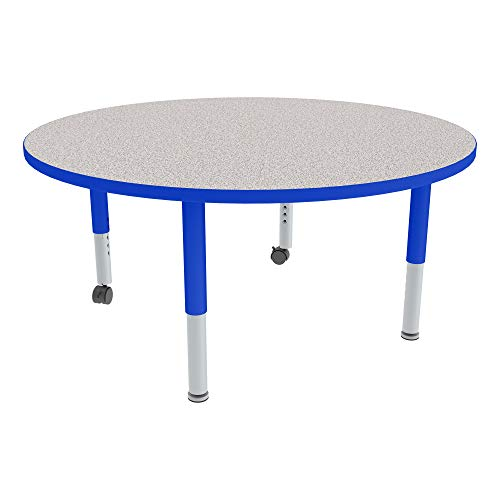 Round Adjustable-Height Mobile Preschool Activity Table (30