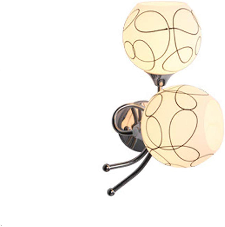 CANCUI Nachttisch Glas Wandlampe, Modernen Kreativ Silber Metall Dekorative Wandleuchte Für Wohnzimmer Balkontür Beleuchtung E27  2-Silber 35x14cm(14x6inch)