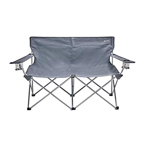 Eurohike Peak Double Camping Chair, Grey, One Size