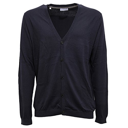 SELECTED HOMME Shdseb Suede Cardigan, Blu (Total Eclipse Total Eclipse), X-Large Uomo