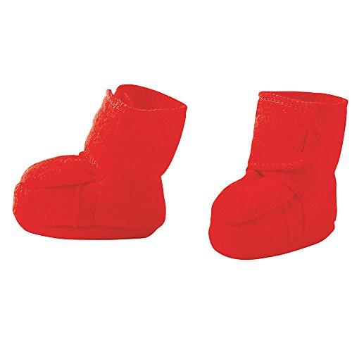 Disana Baby Wollwalk-Schuhe aus reiner Bio-Merinoschurwolle (Gr. 1 (4-8 Monate), Rot)