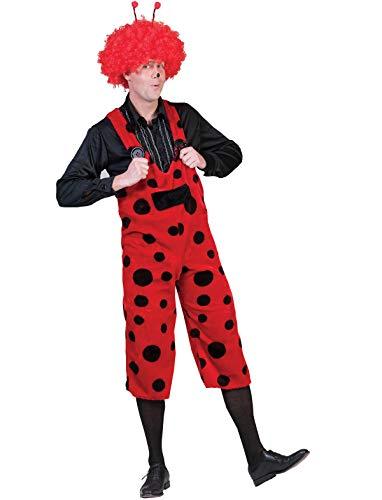 Kostüm Latzhose Marienkäfer Größe 36/38 Damen Herren Unisex Tierkostüm Rot Schwarz Gepunktet Karneval Fasching Pierro's