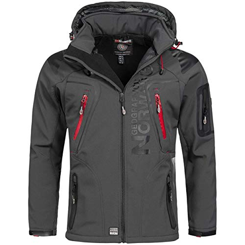 Geographical Norway TECHNO MEN - Chaqueta Softshell Impermeable Para Hombres - Capucha Transpirable...