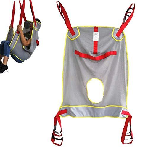 MooKe Patientenlift-Toilettenschlinge - Medizinischer Transfergürtel Großmaschige Schlinge Für Duschtransfergurtliftausrüstung Bariatrische Handicap-Lift-Kommodenschlinge