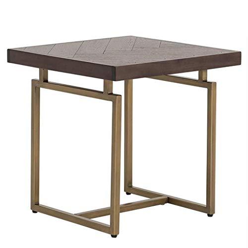 Escritorio de oficina en casa Hierro forjado nórdica todas cuarto lateral mesa de madera Mueble de televisión del hogar mesa de café sólida viento industrial viviendo uno al lado del gabinete mesa rec