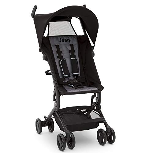 Learn More About Jeep Clutch Plus Travel Stroller with Reclining Seat by Delta Children, Black/Grey