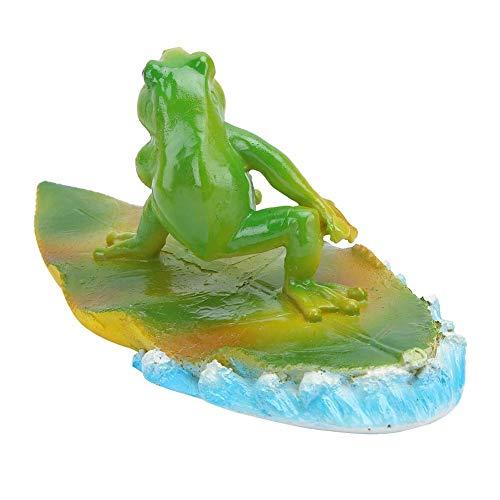Ornament Van De Kikker, Kunstmatige Drijvend Water Lotus Kikker Amimal Pond Aquariumdecoratie Permanente Simulatie Voor Tuinvijver, Zwembad, Fonteinen, Bath,Green