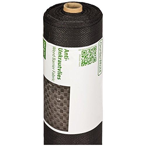 GardenMate Rouleau Toile Anti-Mauvaises Herbes, bac à Sable 1x50m = 50m2 - résistante aux UV